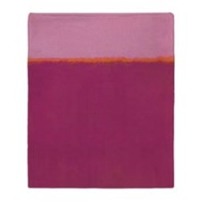 ROTHKO PINK RASBERRY AND ORANGE Throw Blanket