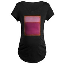 ROTHKO PINK RASBERRY AND ORANGE Maternity T-Shirt