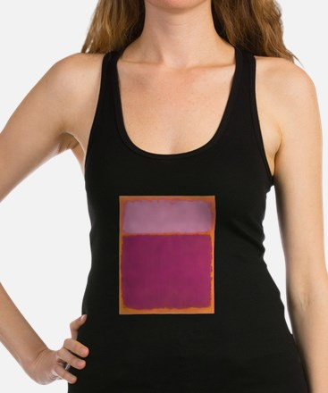 ROTHKO PINK RASBERRY AND ORANGE Racerback Tank Top