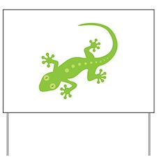 Gecko Lizard Yard Sign