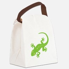 Gecko Lizard Canvas Lunch Bag