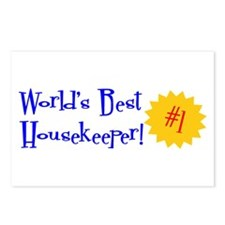 World's Best Housekeeper Postcards (Package of 8)