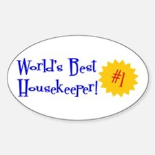 World's Best Housekeeper Oval Decal