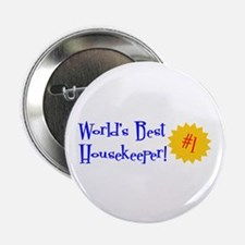 "World's Best Housekeeper 2.25"" Button (10 pack)"