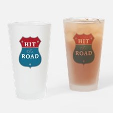 Hit The Road Drinking Glass