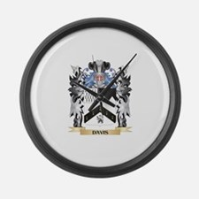 Davis Coat of Arms - Family Crest Large Wall Clock