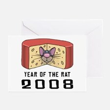 Funny Year of The Rat Greeting Cards (Pk of 20)