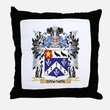 Dawson Coat of Arms - Family Crest Throw Pillow