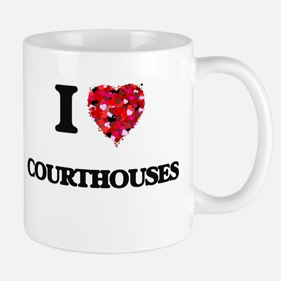 I love Courthouses Mugs