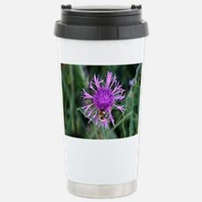 Purple pink flower and  Travel Mug