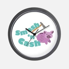 Smash n Cash Wall Clock