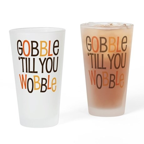 Unique funny gobble til you wobble drinking glass by Unusual drinking glasses uk