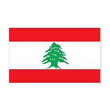 Flag of Lebanon Rectangle Car Magnet