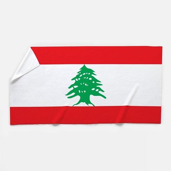 flag of lebanon beach towel - Bathroom Accessories Lebanon