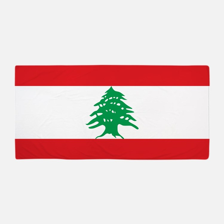 Flag of Lebanon Beach Towel
