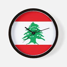 Flag of Lebanon Wall Clock
