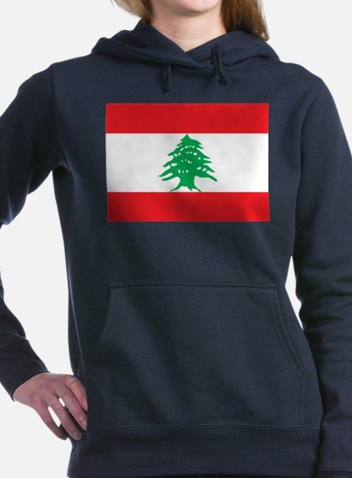 Flag of Lebanon Women's Hooded Sweatshirt