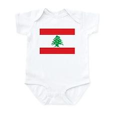 Flag of Lebanon Infant Bodysuit