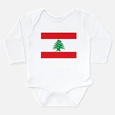 Flag of Lebanon Long Sleeve Infant Bodysuit