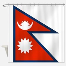 Flag of Nepal Shower Curtain