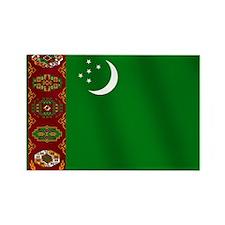 Flag of Turkmenistan Rectangle Magnet
