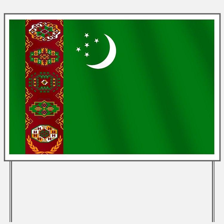 Flag of Turkmenistan Yard Sign
