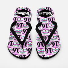 Pretty Pink 16th Flip Flops