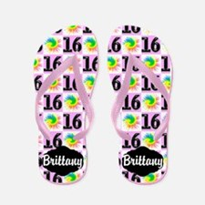 Chic Sweet 16th Flip Flops
