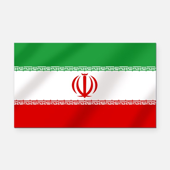 Flag of Iran Rectangle Car Magnet