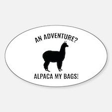 Alpaca My Bags Sticker (Oval)
