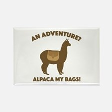 Alpaca My Bags Rectangle Magnet