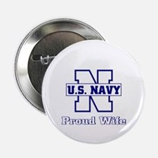 Navy Proud Wife Button