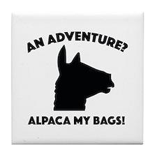 Alpaca My Bags Tile Coaster