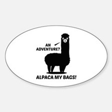 Alpaca My Bags Sticker (Oval)