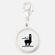 Alpaca My Bags Silver Round Charm