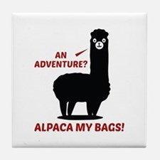 Alpaca My Bags Tile Coaster