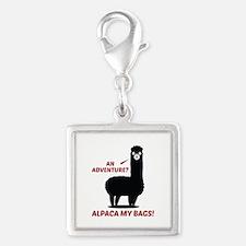 Alpaca My Bags Silver Square Charm