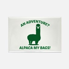 Alpaca My Bags Rectangle Magnet
