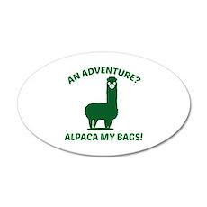Alpaca My Bags 22x14 Oval Wall Peel