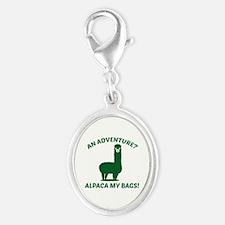 Alpaca My Bags Silver Oval Charm
