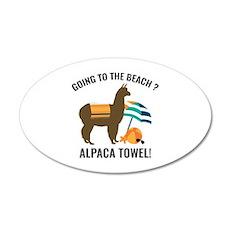 Alpaca Towel 22x14 Oval Wall Peel