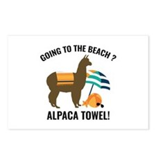 Alpaca Towel Postcards (Package of 8)