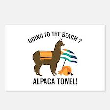 Alpaca Towel Postcards (Package of 8)