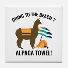 Alpaca Towel Tile Coaster