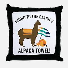 Alpaca Towel Throw Pillow