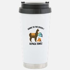 Alpaca Towel Ceramic Travel Mug