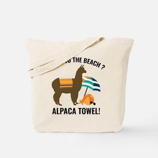 Alpaca Towel Tote Bag