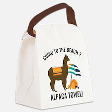 Alpaca Towel Canvas Lunch Bag