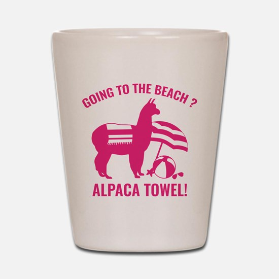 Alpaca Towel Shot Glass