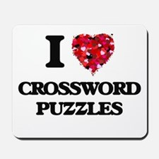I love Crossword Puzzles Mousepad